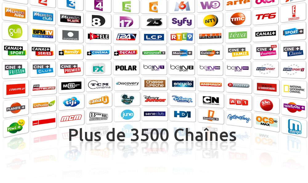 +3000 Channels